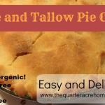 Hypoallergenic Rice and Tallow Pie Crust (no dairy, nuts or gluten)